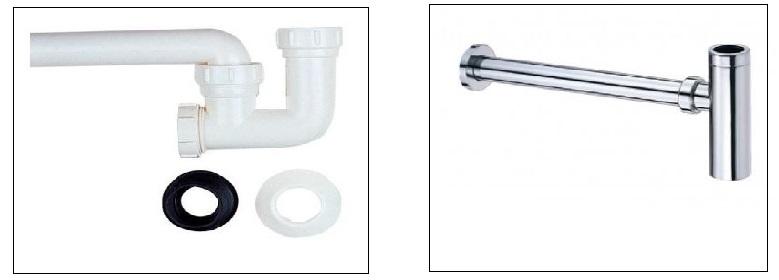 Co thoát thải chữ P, ống thoát thải lavabo CAESAR
